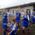 E-Juniorinnen eskortieren mit Sander Frauen-Bundesliga-Team