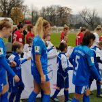 E- und F-Junioren Einlaufkinder beim SC Freiburg